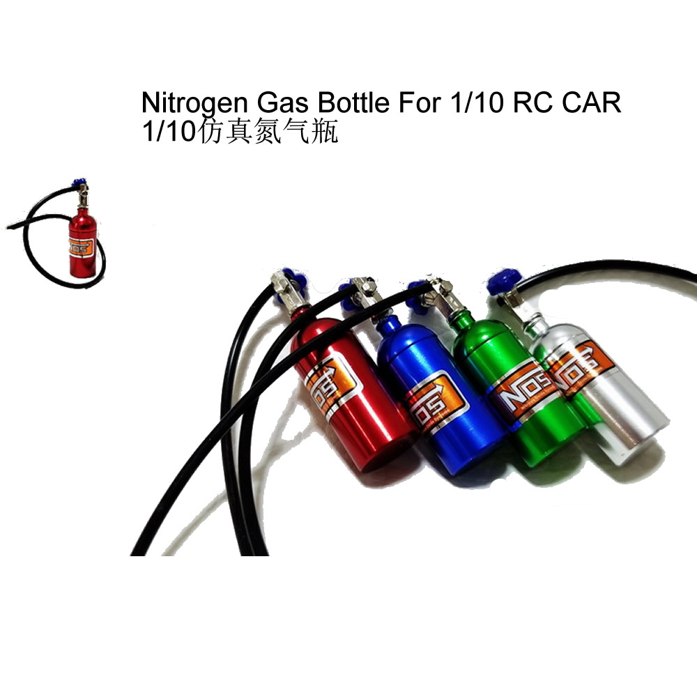Nitrogen Gas Bottle with Black Hose