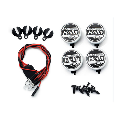 1/10 RC car  Hella simulation round lamp