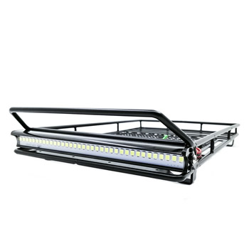 1/10 Metal Roof Rack Luggage Carrier with  LED spotlight