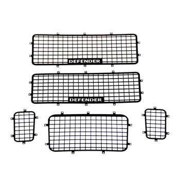 Metal Protective Window Net Grill 5pcs sets For Traxxas Trx-4