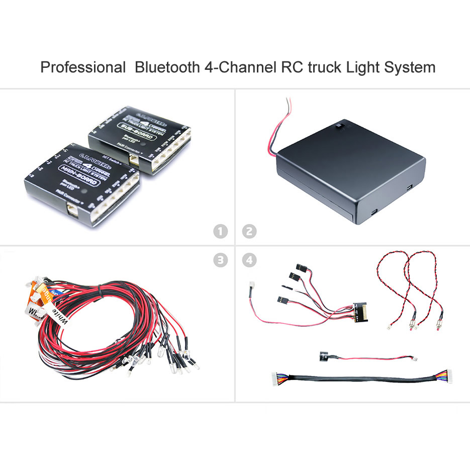 Professional  Bluetooth 4-Channel RC truck Light System