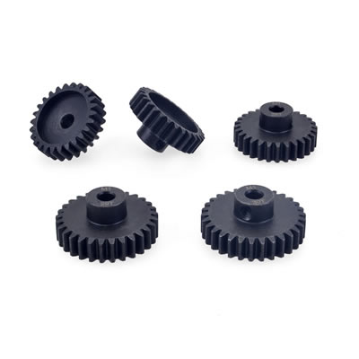 M0.6 Stainless Steel 17t-28t Pinion Gears 5.0mm for 1/8 RC Car