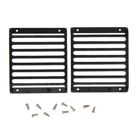 2Pcs TRX4 Defender Metal Front Lamp Guards Headlight Cover Guard Grille