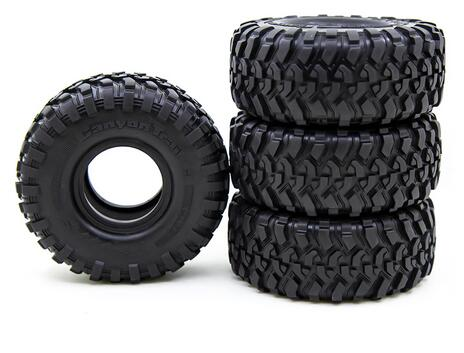 "1.9inch 1.9"" Rubber 118mm Tires with Foam Sponge Insert for TRX4 SCX10 90046"