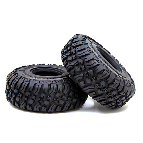 "1.9inch 1.9"" Rubber 118x46mm Tires with Foam Sponge Insert for TRX4 SCX10 90046"
